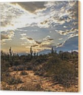 A Sonoran Desert Sunset  Wood Print