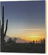 A Sonoran Sunrise  Wood Print