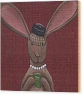 A Sophisticated Bunny Wood Print