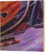 A Southern Combination Digital Banjo And Guitar Art By Steven Langston Wood Print by Steven Lebron Langston