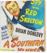 A Southern Yankee, Us Poster, Red Wood Print