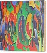 A Splash Of Paint Wood Print