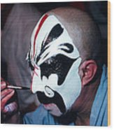 A Spooky Kabuki Wood Print