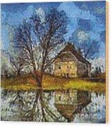 A Spring Flood Wood Print