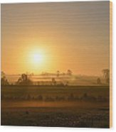 A Spring Morning At Gettysburg Wood Print