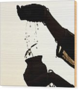 A Sprinkle Of Water Wood Print by Tim Gainey