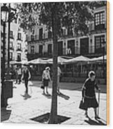 A Square In Toledo - Spain Wood Print