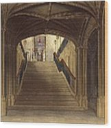 A Staircase, Windsor Castle, From Royal Wood Print
