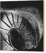A Stairwell In The Catacombs Of Paris France Wood Print