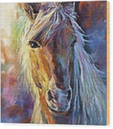 A Stallion Wood Print
