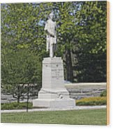 A Statue Of Colonel Thayer Wood Print