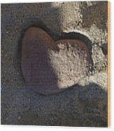 A Stone Heart Wood Print