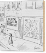 A Storefront Medical Marijuana Dispensary Wood Print