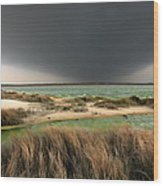 A Storm A Coming - Outer Banks I Wood Print by Dan Carmichael