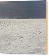 A Storm Approaching The Salt Pan Wood Print