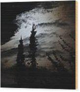 A Storm's Comin Wood Print