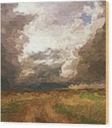 A Stormy Day Wood Print