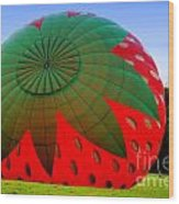 A Strawberry Balloon Wood Print