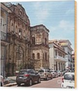 A Street In The Old Quarter. Wood Print