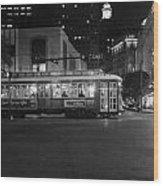A Streetcar In Nola Wood Print