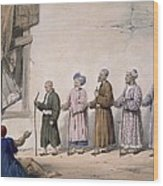 A String Of Blind Beggars, Cabul, 1843 Wood Print