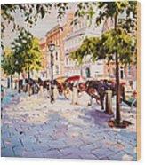 A Stroll On Stephens Green Wood Print
