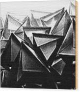 A Structure Rises Wood Print