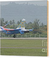 A Sukhoi Su-27 Flanker Of The Russian Wood Print