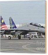 A Sukhoi Su-30 Of The Royal Malaysian Wood Print