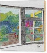 A Summer Garden Wood Print by Bav Patel