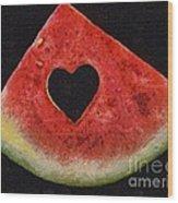 A Summer Valentine's Day Wood Print