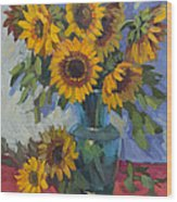 A Sunflower Day Wood Print