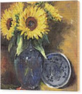 A Sunflower Smile Wood Print