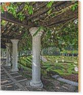 A Sunken Garden Wood Print