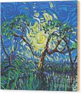 A Sunny Day For The Tree Wood Print
