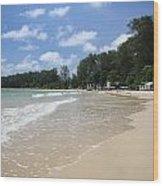 A Sunny Day On Nai Yang Beach Phuket Island Thailand Wood Print