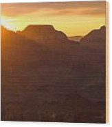 A Sunrise To Make One Silent Wood Print