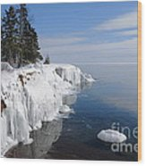 A Superior Winter Day #2 Wood Print
