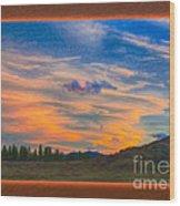 A Surprise Sunset Visit Landscape Painting Wood Print