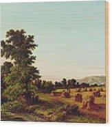 A Surrey Cornfield Wood Print by Walter Williams