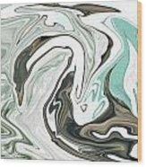 A Swan Wood Print