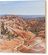 A Sweeping Vista At Bryce Canyon  Wood Print