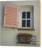 A Sweet Shuttered Window Wood Print by Lainie Wrightson