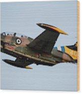 A T-2e Buckeye Trainer Aircraft Wood Print