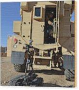 A Talon Mark 2 Bomb Disposal Robot Wood Print