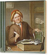 A Tax Collector, 1745 Wood Print by Tibout Regters