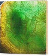 A Thin Slice Of Rock Wood Print