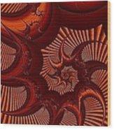 A Thorny Swirl Wood Print