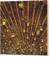 A Thousand Candles - Tunnel Of Light Wood Print