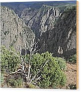 A Thunderstorm Is Approaching Over The Black Canyon Wood Print